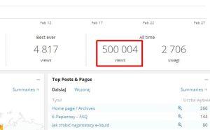 500 000 na bloga